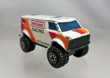 Matchbox Chevy 4X4 Van Racing BF Goodrich White 1983