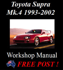 TOYOTA SUPRA MK.4 JZA8 1993-2002 FACTORY WORKSHOP MANUAL ON CD OR DOWNLOAD