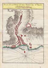 1757 Bellin Map of Santiago, Cape Verde Isles