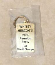 Whitey Herzog 20th Anniversary 1982 St Louis Cardinals Reunion Party Key Chain