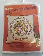 "Bucilla Creative Needlepoint ""Fleurette"" 16"" Square Decorator Pillow Kit #2261"