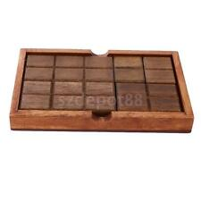 Chinese Classic Intelligence Toy Brain Teaser Game Chocolate Box Wood Puzzle