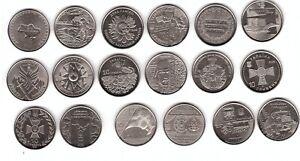 Ukraine - set 9 coins 10 Hryven 2018 - 2020 UNC Lemberg-Zp