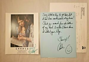 "Amber Benson Autograph Signed 8x10 w/ LETTER ""Chance"" - Buffy the Vampire Slayer"
