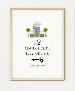 New Home First Home Personalised Gift Keepsake A4 Poster Print PO430
