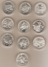 RARE Zombucks 10 coin silver set Walking Dead SOLD OUT apocalypse ZOMBIES