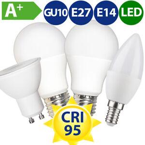 CRI 95 LED Leuchtmittel Birne Kerze Strahler E27 E14 GU10 RA-Wert >95 warmweiß