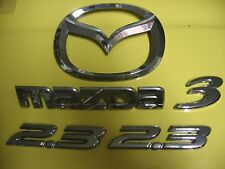 MAZDA 3 WITH SIDE DOOR 2.3 EMBLEMS AND LOGO