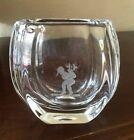 Vintage Orrefors Sweden Engraved Etched Crystal Vase Boy 2.3 lbs