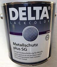 (11,99€/L.) DELTA Metallschutz plus SG RAL 9007 Graualuminium  2,5 Liter