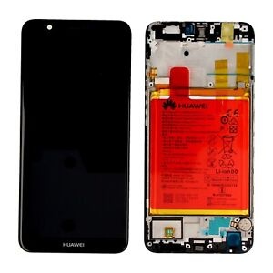 VETRO DISPLAY + LCD+FRAME + BATTERIA ORIGINALE Huawei P SMART BLACK FIG-LX1 NERO
