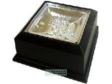 CRYSTAL 3D LASER BLOCK SQUARE LED DISPLAY STAND FOR UPRIGHT LASER BLOCKS - WHITE