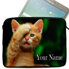 "Personalised Tablet Case KITTEN CAT Neoprene Sleeve Cover 7"" 8"" 9"" 10"" ST788"