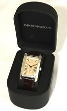 Gents Emporio Armani AR0154 Mens Analogue Watch with Leather Wrist Strap. Boxed
