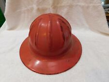 VTG B.F MCDONALD ALUMINUM FULL BRIM HARD HAT Patent 2177145 Los Angeles Leather