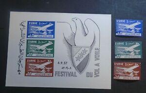 1957 FESTIVAL SET + SHEET VF MNH SYRIA SYRIE W105.48 START 0.99$