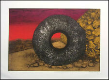 """Dean Meeker """"Ball Court #1""""H.Signed Intaglio Collagraph Artwork Make Offer"""