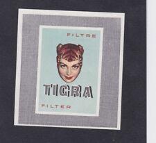 Ancienne  étiquette paquet allumettes Belgique BN54210 Tigra Tabac Femme
