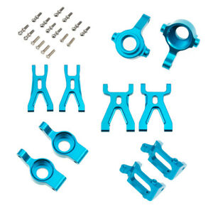 Steering Hub Carrier Suspension Arm For RC 1/18 WLtoys A959 A969 A979 Blue
