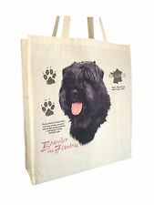 Bouvier des Flandres Cotton Shopping Tote Bag with Gusset & Long Handles