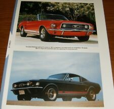 ★★1967 FORD MUSTANG GT/GTA SPECS INFO PHOTO 67 390 289★★