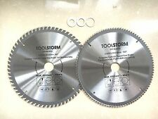 2PC TCT Drop Saw/Compound Mitre Saw Blade 255mm 100T/60T Arbor 30/25.4/16/10