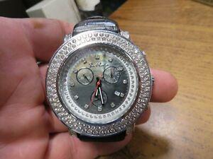 Authentic Mens JOJO Joe Rodeo Junior real diamond watch.