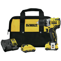 DEWALT DCD701F2 XTREME 12V MAX 3/8 in. Li-ion Drill Driver Kit (2 Ah) New