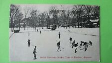 VINTAGE 1908 McGILL UNIVERSITY ICE HOCKEY TEAM POSTCARD Post card Montreal RARE!