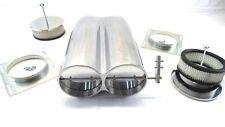 Alum. Shotgun Intake Smooth Top Dual Carb Hood Scoop Polished BPE-1009