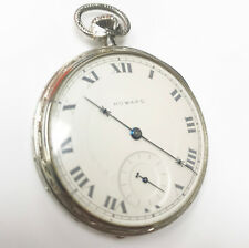 E Howard Watch Co. 14K Solid White Gold 17 Jewels Very Rare 1921-30 Pocket Watch
