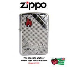 Zippo Tile Mosaic Lighter, Armor High Polish Chrome #29098