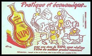Buvard Publicitaire, NAPO - Produits de lavage et nettoyage à diluer