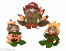 Marie Osmond Small Dolls for All Seasons #1 Trio BRAND NEW IN BOX w/CERT *SALE*