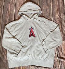 Nike Embroidered Team Angels Baseball Gray Hooded Sweatshirt Mens 2XL
