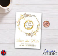 Personalised Scratch Off Card Wedding Invite Party Reveal Save The Date Gold