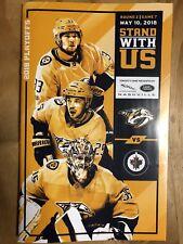 NHL Nashville Predators 2018 Playoffs Round 2 Game 7 Program Vs Jets