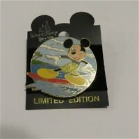 RARE OLD LE Disney Pin WDW Surfing Mickey Mouse Surprise Release Boardwalk Excl