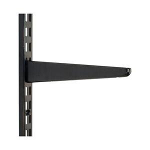 Pack of 10 Black Twin Slot Shelving Storage Uprights & Brackets - Bulk Purchase