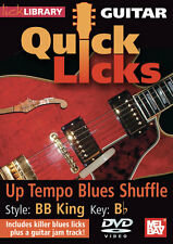 Bb King Up Tempo Blues Shuffle Guitar Licks New Dvd
