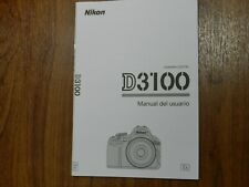 Genuine Nikon D3100 Instruction User's Guide Manual 68 pages ⏩ SPANISH ONLY ⏪
