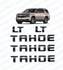5x  Gloss Black TAHOE Nameplate EMBLEM Letter for GM 07-16 Chevrolet USA LT