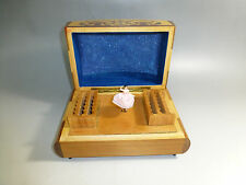 Vintage Reuge Dancing Ballerina Cigarette / Items Wooden Case Holders Music Box
