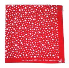 New Cotton Red Bandana Stars Headwrap Biker Accessories Women Men Headband Scarf
