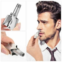 Washable Stainless Steel Nose Hair Trimmer Without Battery Manual Shaver