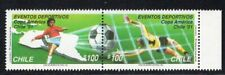 CHILE 1991 STAMP # 1497/8 MNH SOCCER COPA AMERICA