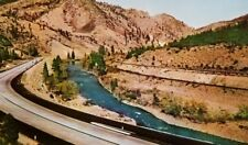 Truckee river senic Highway 40  Truckee River Vintage Postcard a2-304