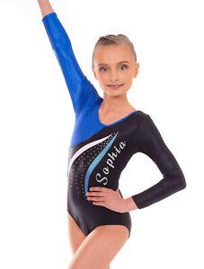 Personalised Customised Name Gymnastics Leotard UK for Girls Custom Dancewear