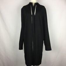 LOUNGE Womens Size Small Black W/ Cream Panel Long Sleeve Button Up Shirt Dress
