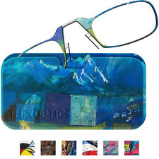 ThinOptics Secure Fit Armless Ultralight Reading Glasses with Designer Case
